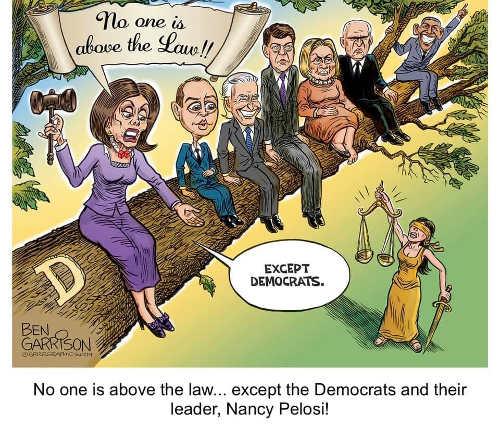 pelosi schiff biden hillary obama no one is above the law except democrats