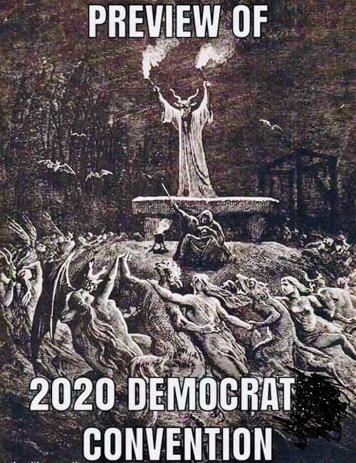 preview of 2020 democrat convention satan worshippers