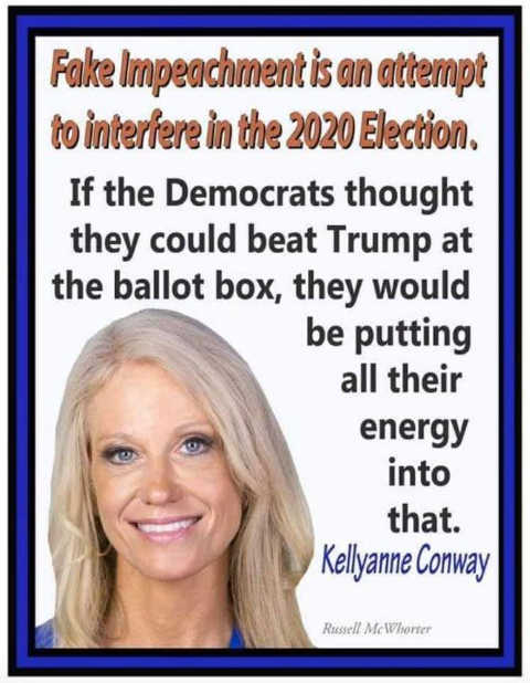 quote kelly anne conway fake impeachment attempt to interfere 2020 election