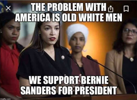 squad aoc omar problem with america is old white men we support bernie sanders for president