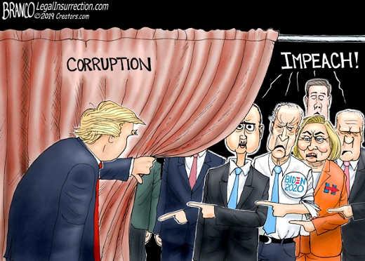 trump pulling back curtain on democratic corruption impeach