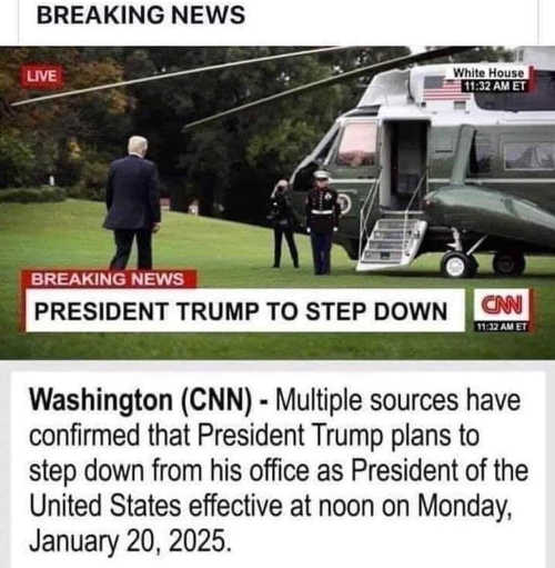 trump to step down as president january 2025