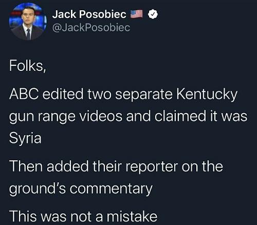 tweet abc edited two separate kentucky gun range videos claimed as syria not a mistake