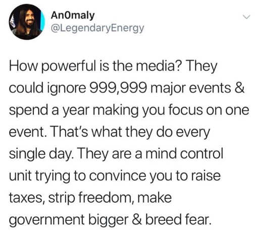 tweet how powerful is media makes you focus on 1 in million things strip freedom more taxes