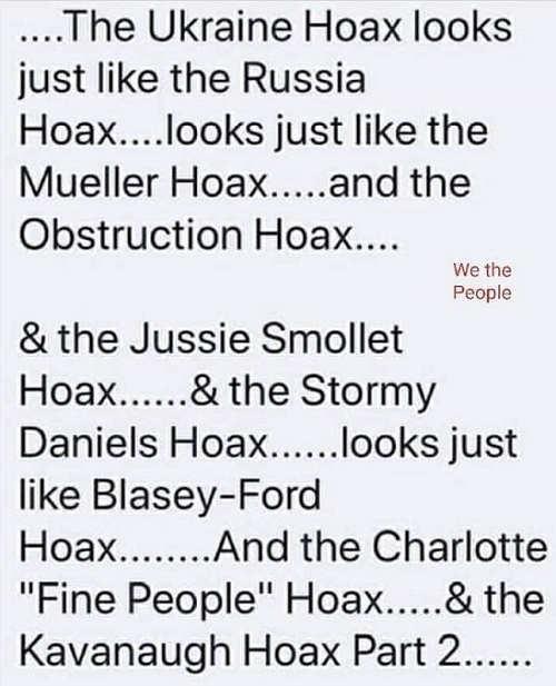 ukraine hoax looks like russia mueller blasey ford etc