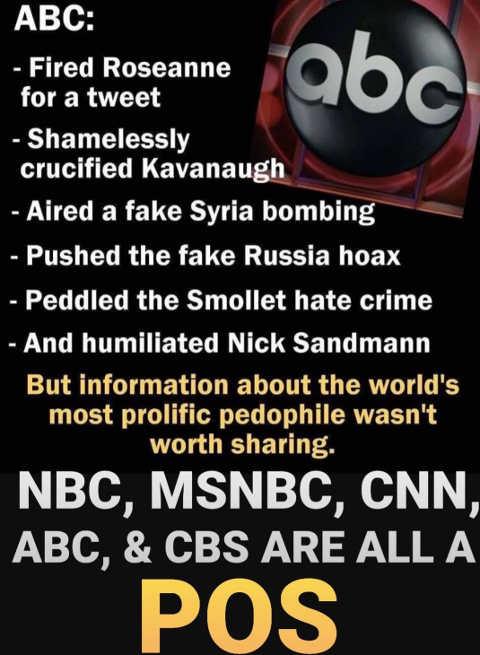 abc nbc msnbc cnn cbs fake news history