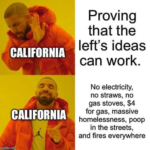 california proving lefts ideas work no electricity straws gas stoves