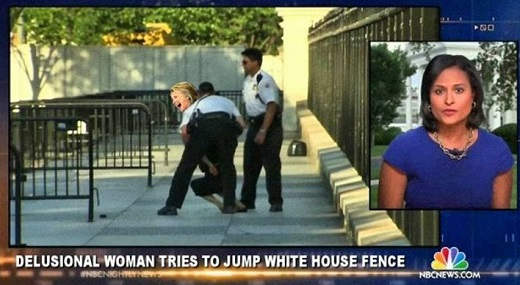 delusional woman tries to jump white house fence hillary clinton