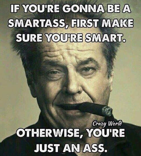 if-youre-going-to-be-a-smartass-first-make-sure-youre-smart-otherwise-you-re-an-ass