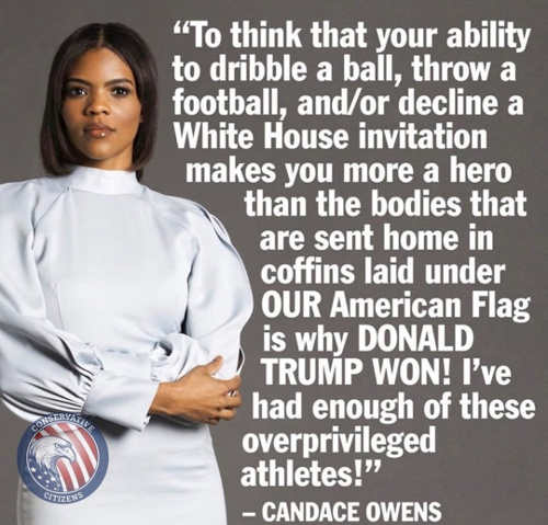 quote candace owens football basketball players think of their own importance