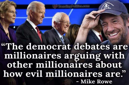quote mike rowe debates are millionaires arguing with other millionaires how evil they are