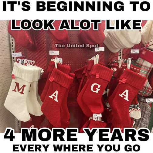 beginning to look a lot like 4 more years trump maga