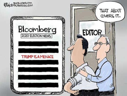 bloomberg news trump is a menace everything else blacked out