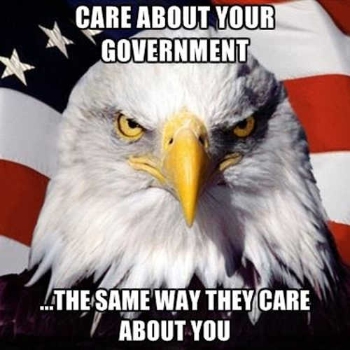 care about government the same way they care about you
