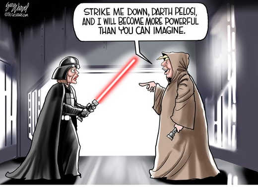 darth vader pelosi trump obiwan if you strike me down become more powerful
