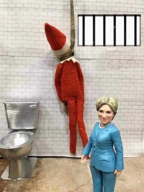 elf on shelf hung cell hillary clinton