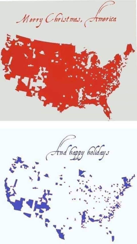 merry christmas red america happy holidays blue