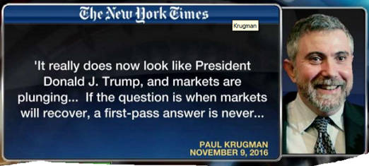 quote paul krugman trump election when markets recover answer is never
