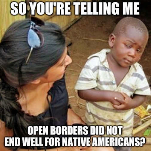 so youre telling me open borders did not end well for native americans