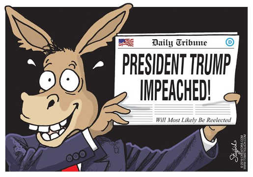 trump impeached will most likely be reelected newspaper headline