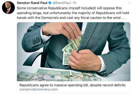 tweet rand paul national debt