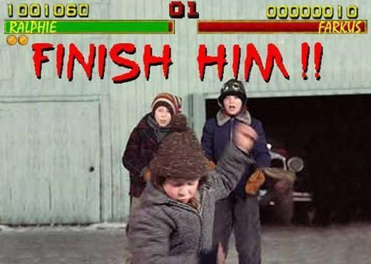 video game finish him ralphie beating scott farkus