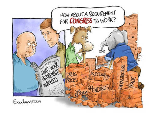 welfare work requirement increase how about requiring congress to work
