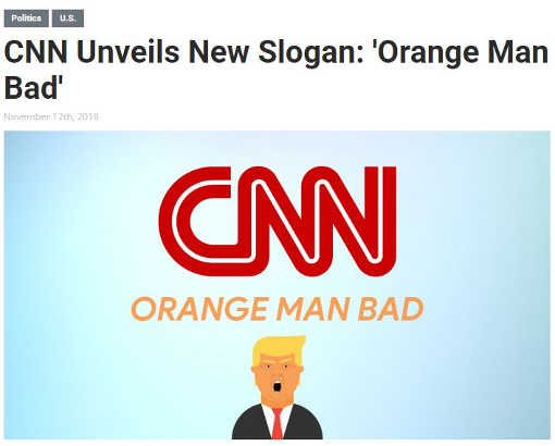 babylon bee cnn reveals new slogan orange man bad