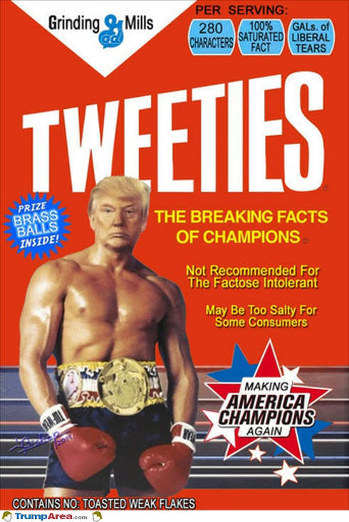 donald trump tweeties breaking facts of campions gals of liberal tears