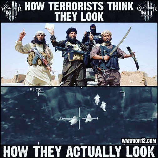 how terrorists think they look actually look targets for drones