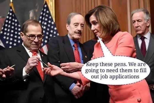 pelosi nadler keep these pens well need to fill out job applications impeachment