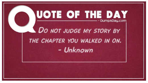 quote do not judge my stoy by the chapter you walked in on