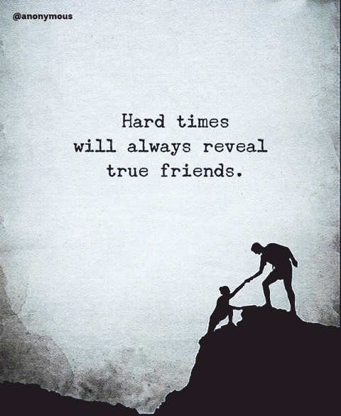 quote hard times will always reveal true friends