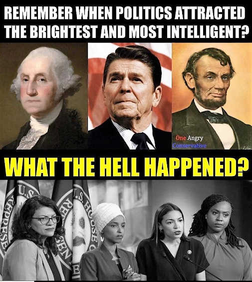 remember when politics attracted intelligent reagan washington lincoln what happened squal omar aoc