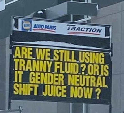 still tranny fluid or gender neutral shift juice now