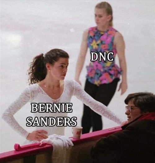 Image result for bernie nancy kerrigan meme