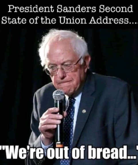 bernie sanders second sotu address were out of bread