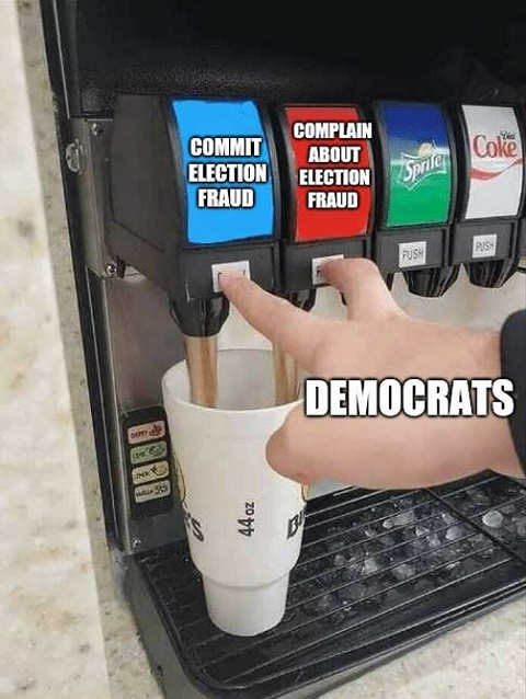democrats commit election fraud complain about election fraud soda machine