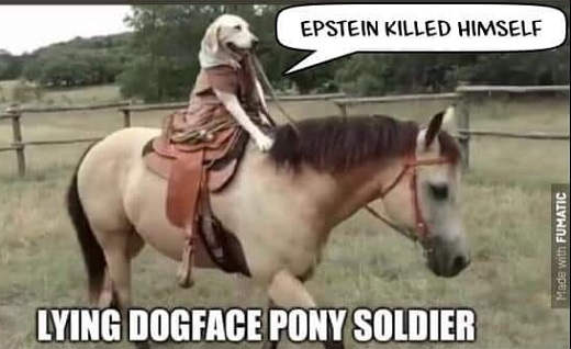 epstein killed himself lyging dogface pony soldier
