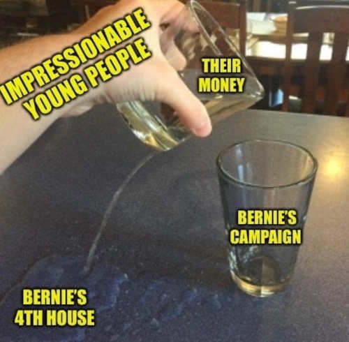 impressionable young people bernies 4th house money instead of campaign