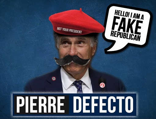 mitt romney pierre defecto not your president fake republican