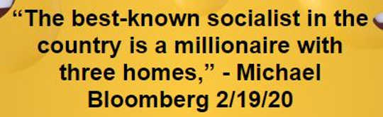 quote bloomberg best known socialist is millionaire with 3 homes