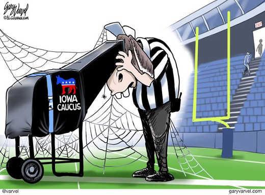 referee booth iowa caucus democrats