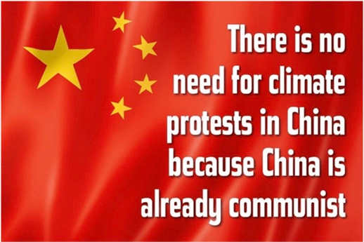 there is no need for climate change protest in china because theyre already communist