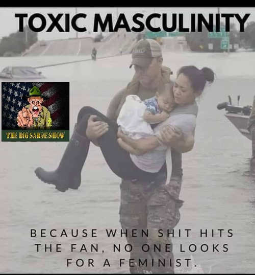 toxic masculinity when shit hits the fan no one looks for feminist