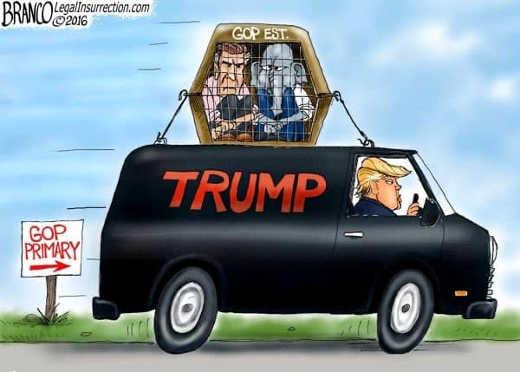 trump gop establishment in cage