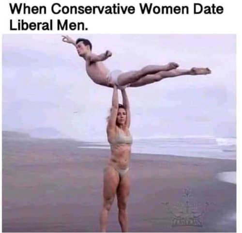 when conservative women date liberal men reverse dirty dancing lift