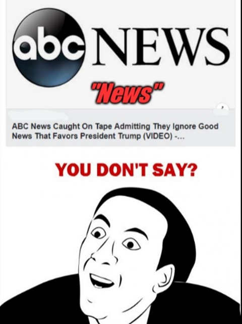 abc news caught on tape admitting ignore news favor trump you dont say