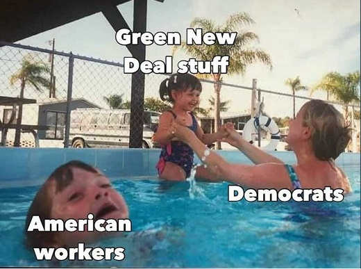 american workers drowning democrats green new deal