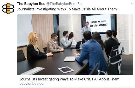 babylon bee journalists try to make virus about them